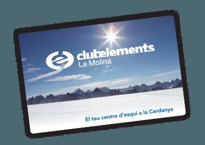 tarjeta fidelització club elements